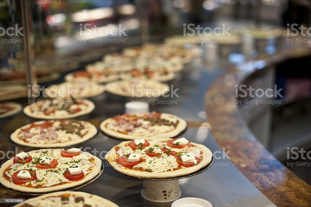 Assorted Pizzas stock photo