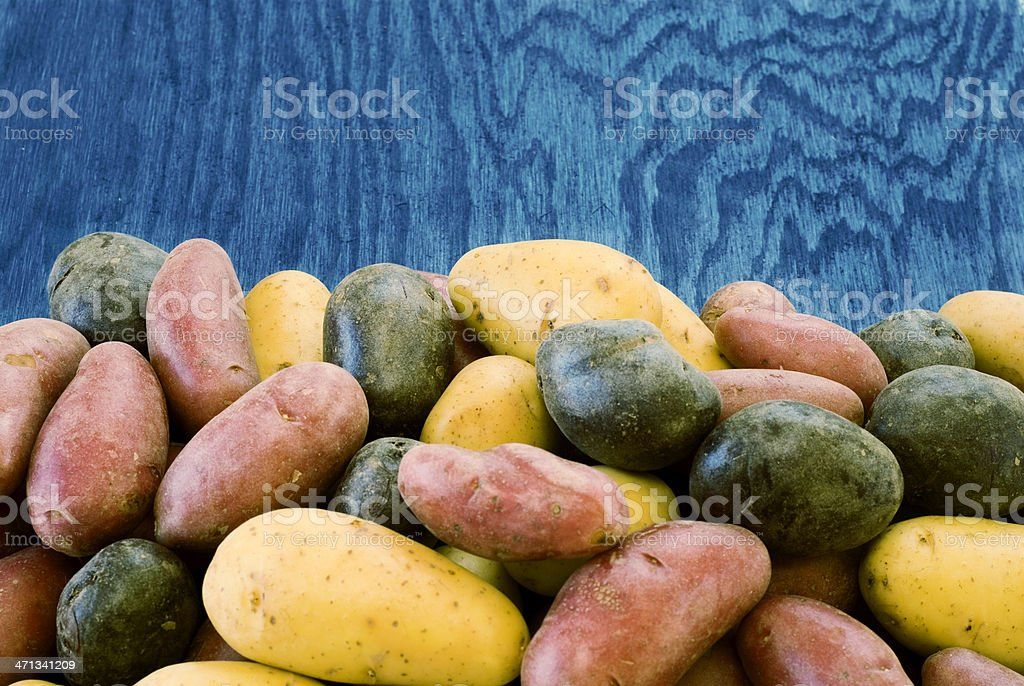 Assorted potatoes stock photo
