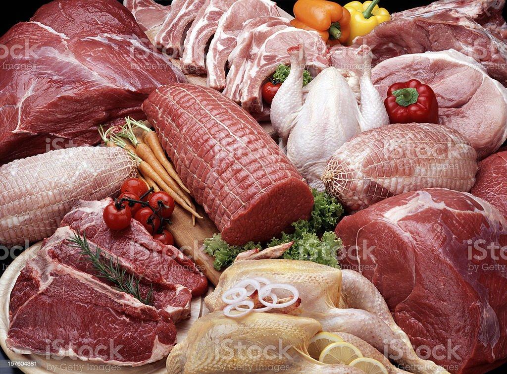 Mieszanka surowego mięso zbiór zdjęć royalty-free