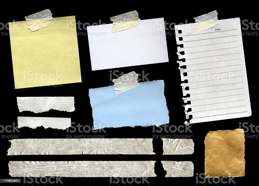 Assorted Scrap Papers royalty-free stock photo