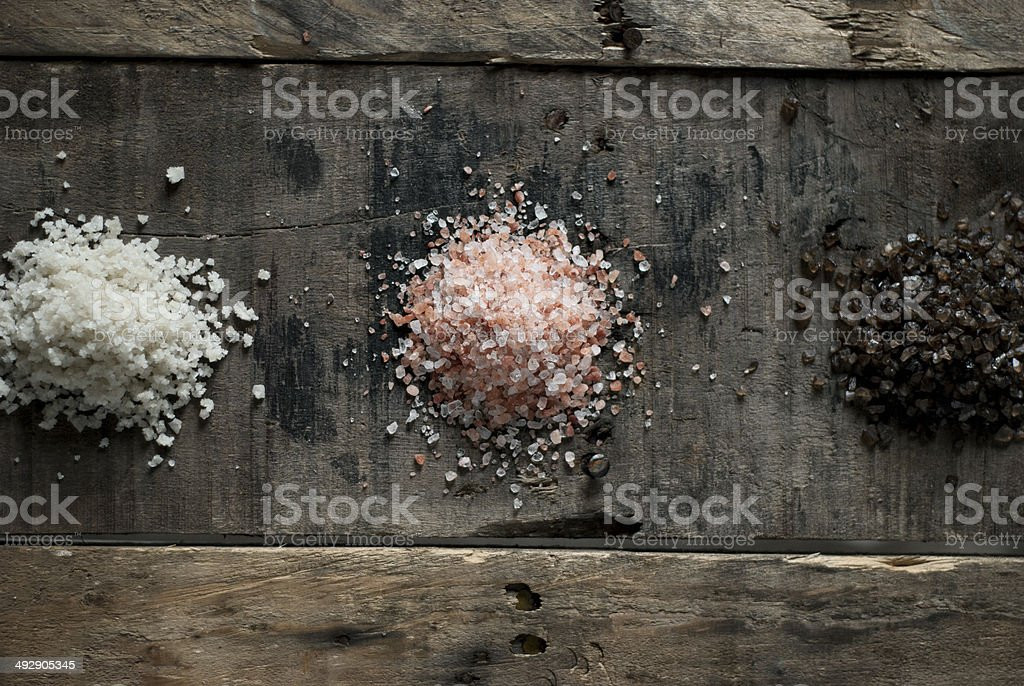Assorted Sea Salts royalty-free stock photo