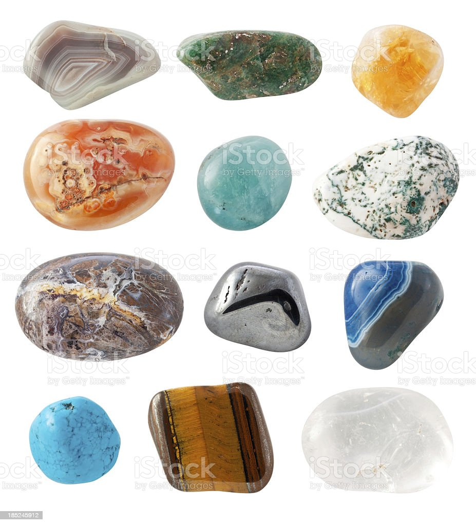 Assorted Semi-precious Gems stock photo