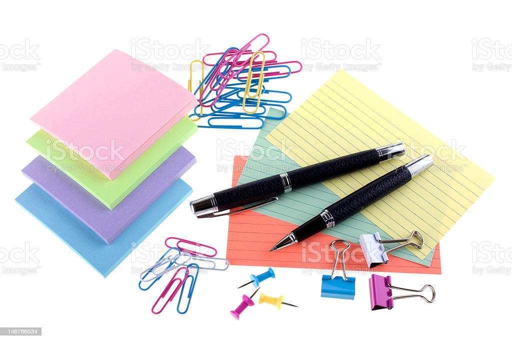 Assorted stationery royalty-free stock photo