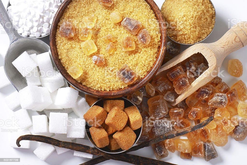 assorted sugar royalty-free stock photo