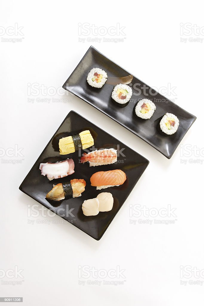 Assorted sushi royalty-free stock photo