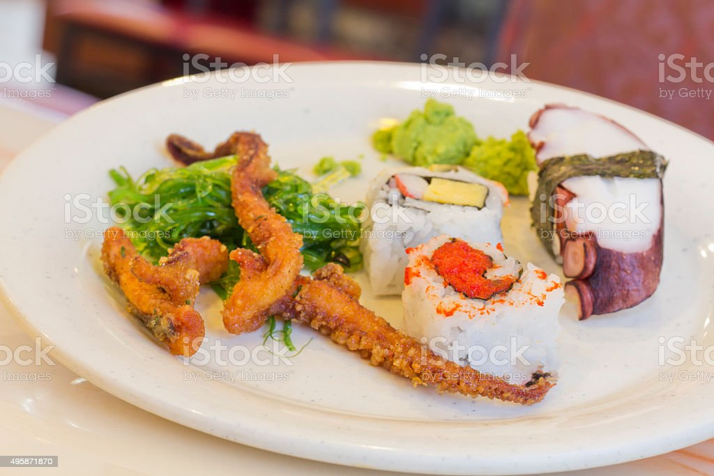 Assorted Sushi Seafood stock photo