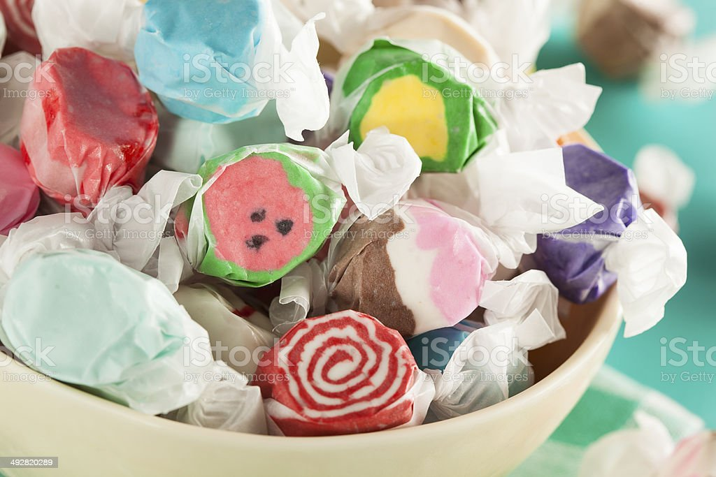 Assorted Sweet Saltwater Taffy stock photo