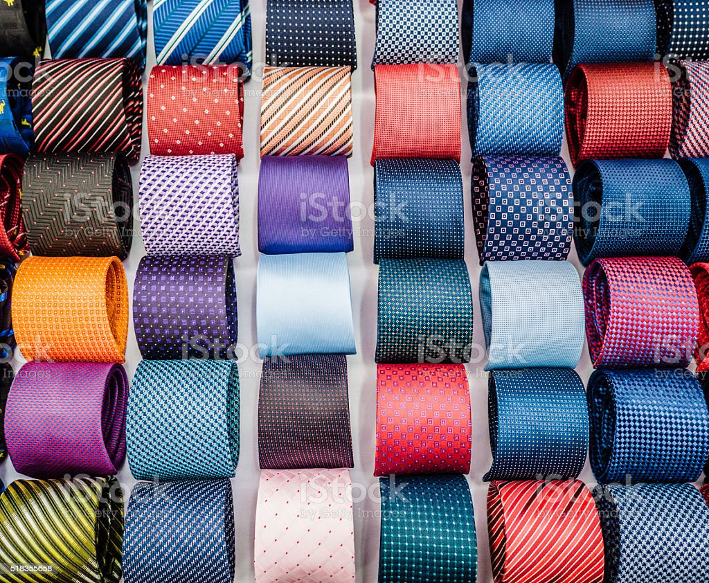 Assorted ties stock photo