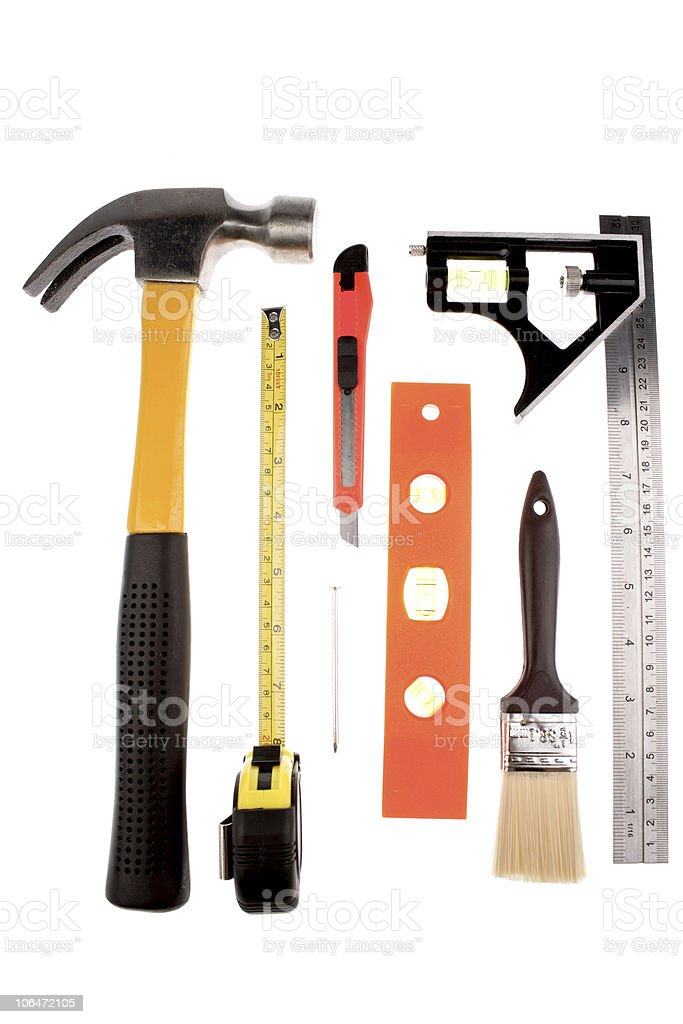 Assorted tools royalty-free stock photo