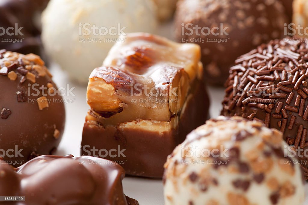 Assorted truffles royalty-free stock photo