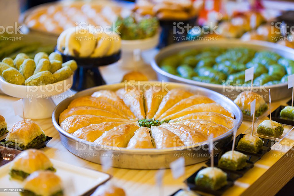 Assorted Turkish Desserts stock photo