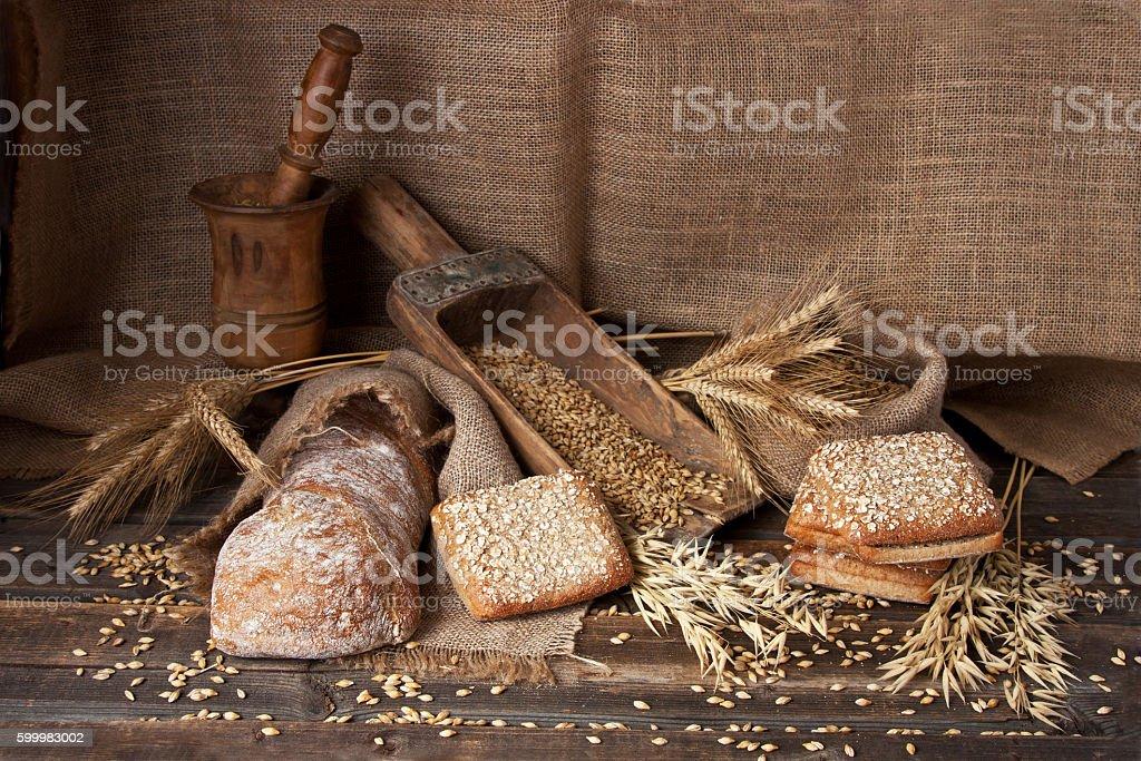Assortment bread and ciabatta stock photo