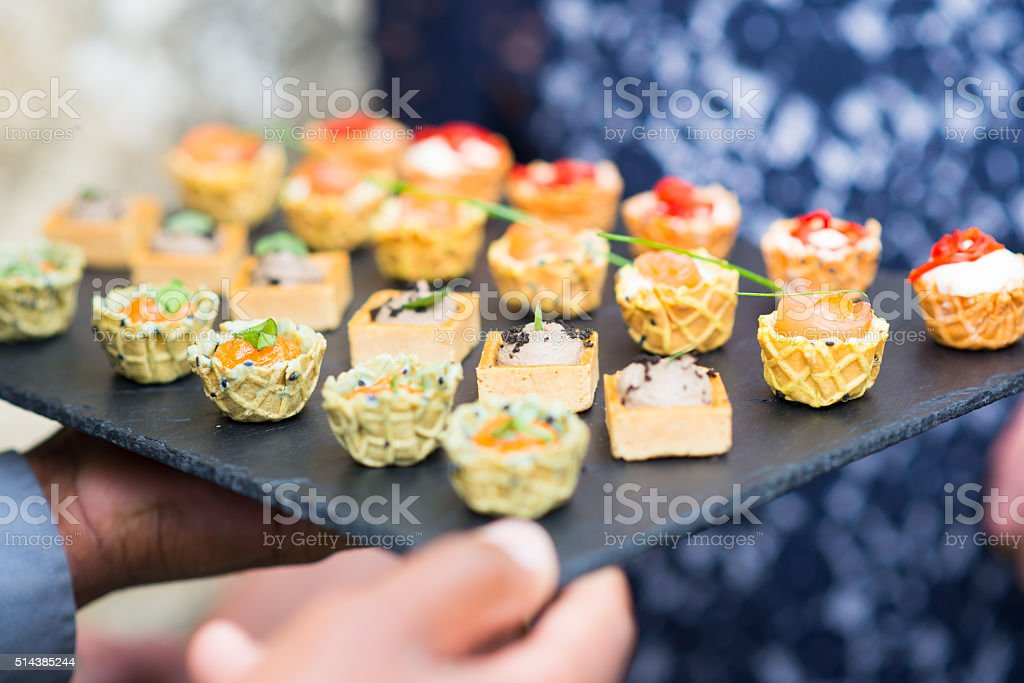 Assortment festive appetizers stock photo