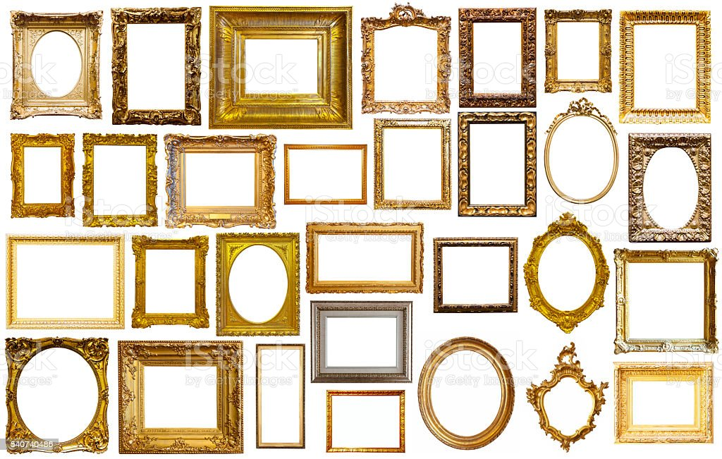 assortment of art frames stock photo