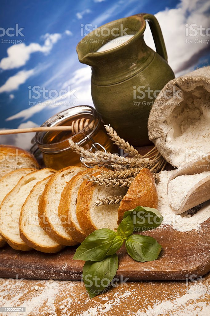 Assortment of baked goods royalty-free stock photo