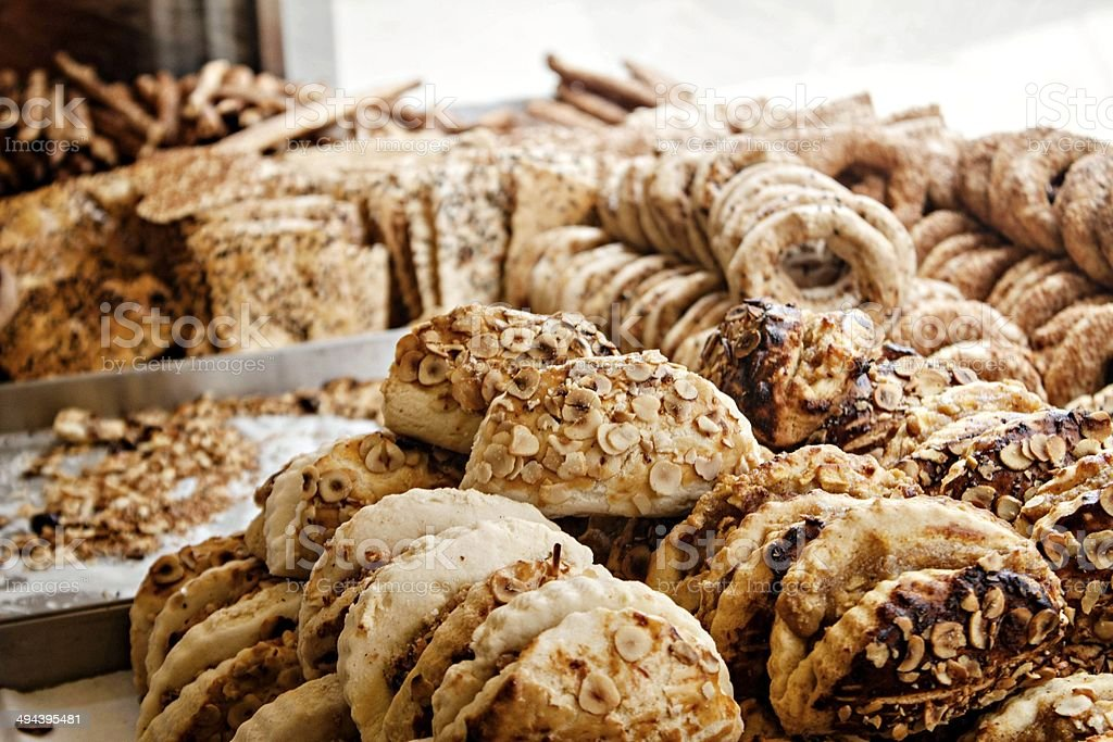 Assortment of bakery foods stock photo
