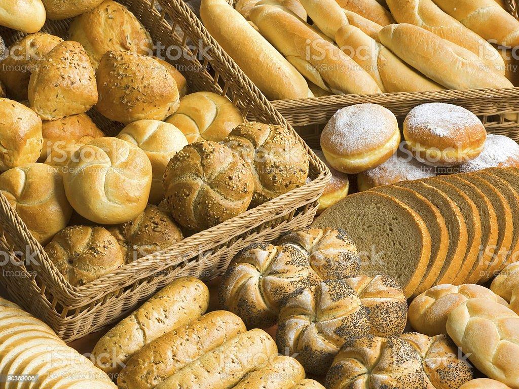 Assortment of bakery goods stock photo