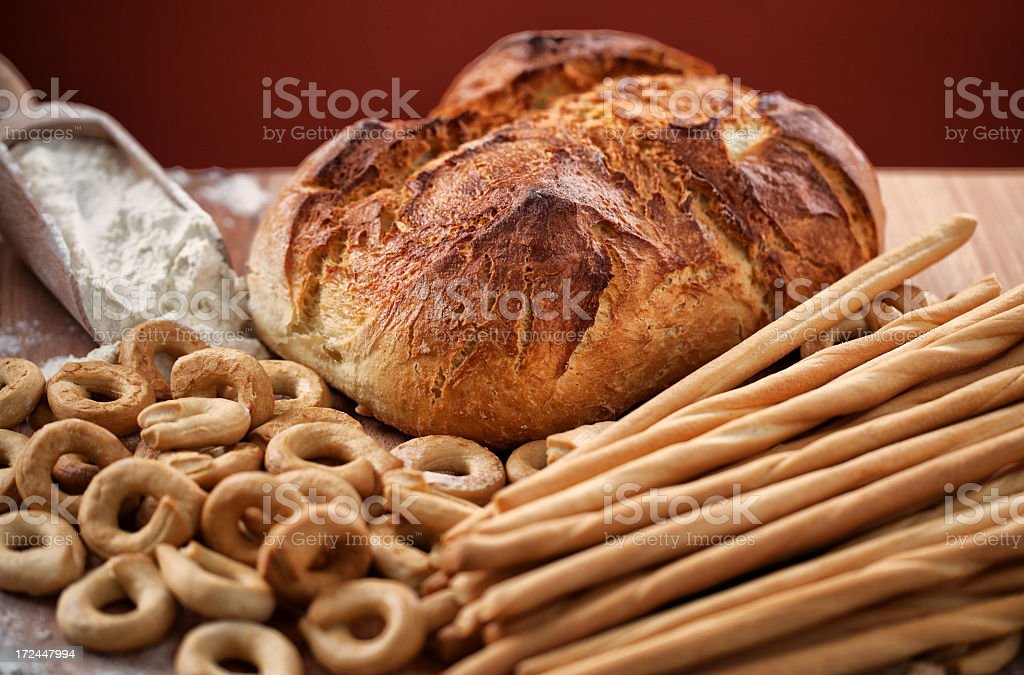 Assortment of bakery products royalty-free stock photo