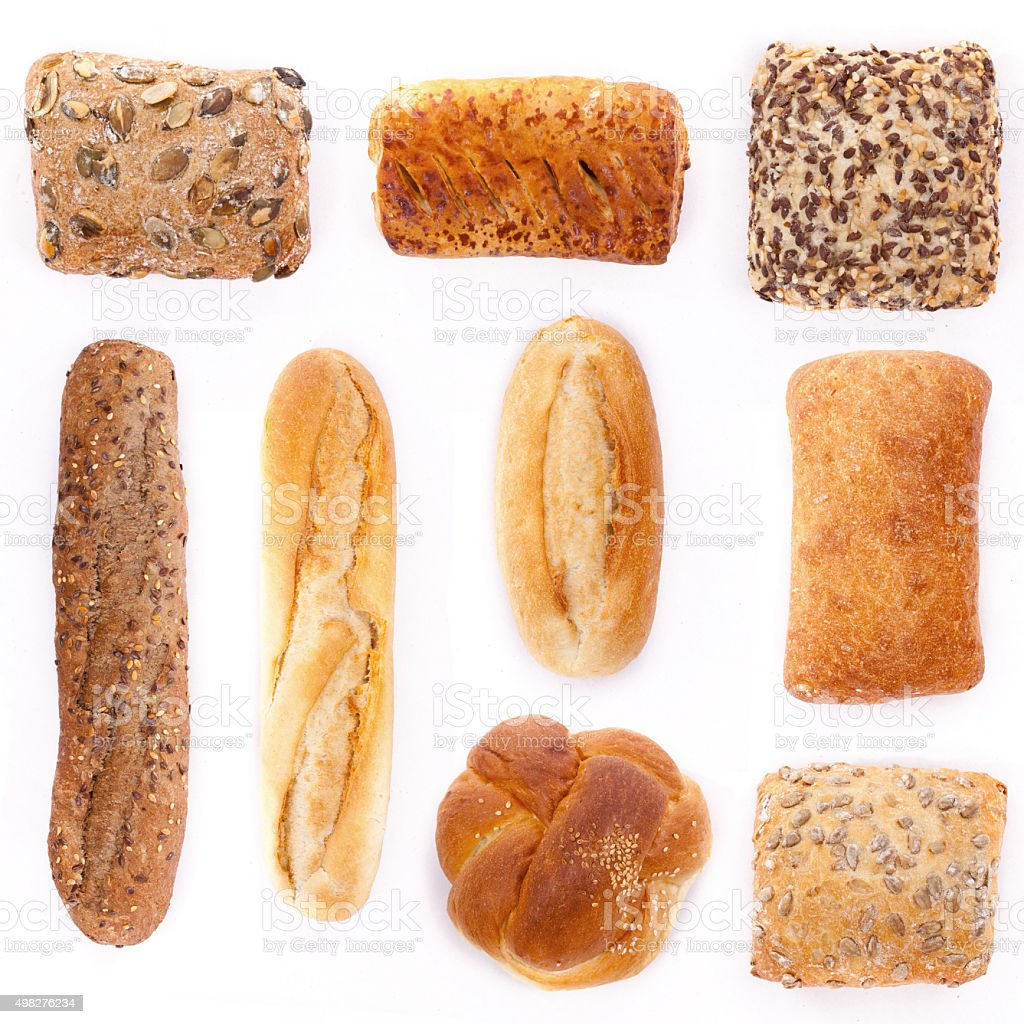 Assortment of bread stock photo