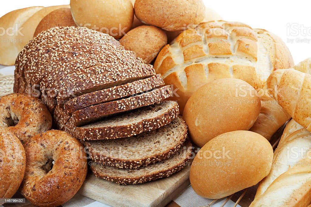 Assortment of Breads stock photo