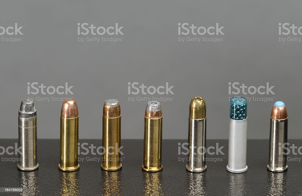 Assortment of bullets royalty-free stock photo