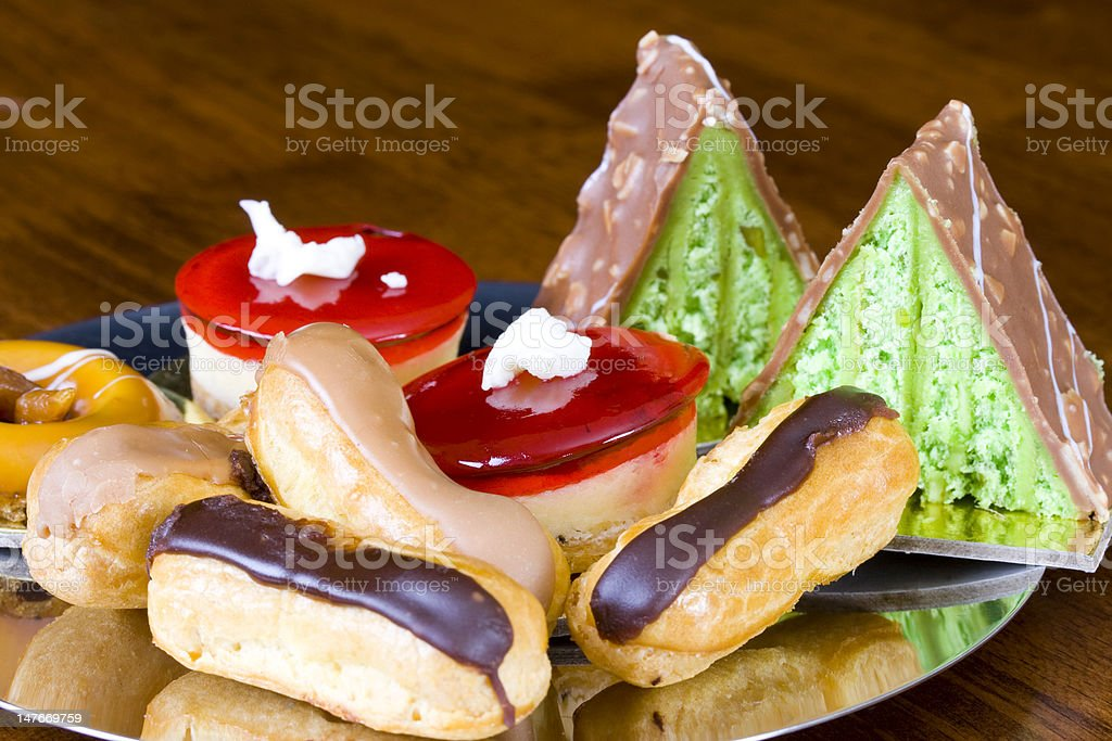 Assortment of cakes royalty-free stock photo