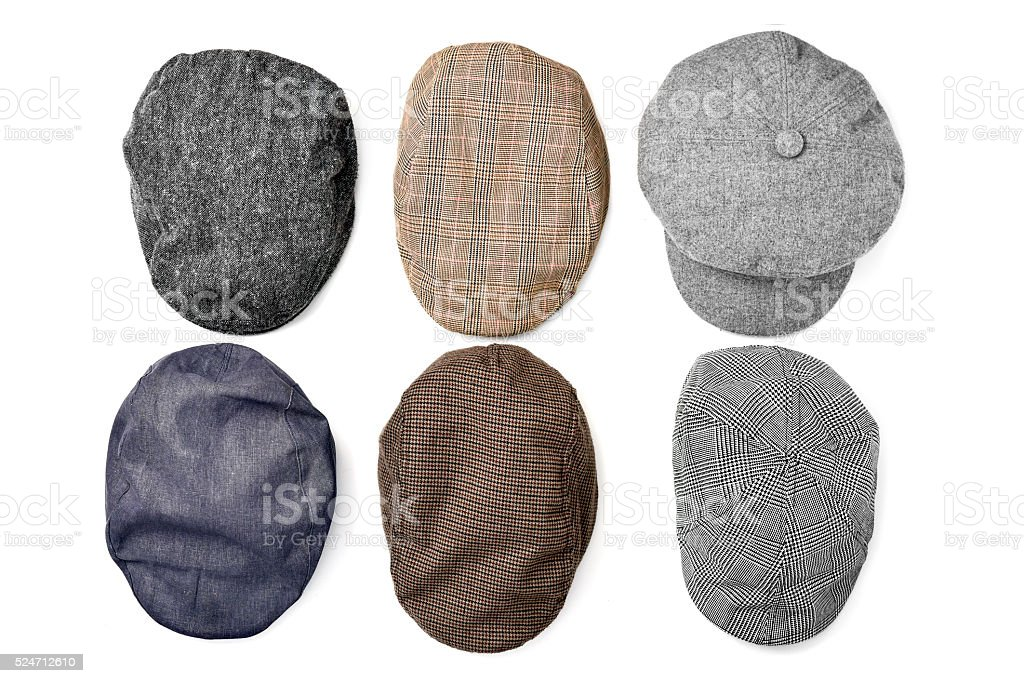 assortment of caps stock photo