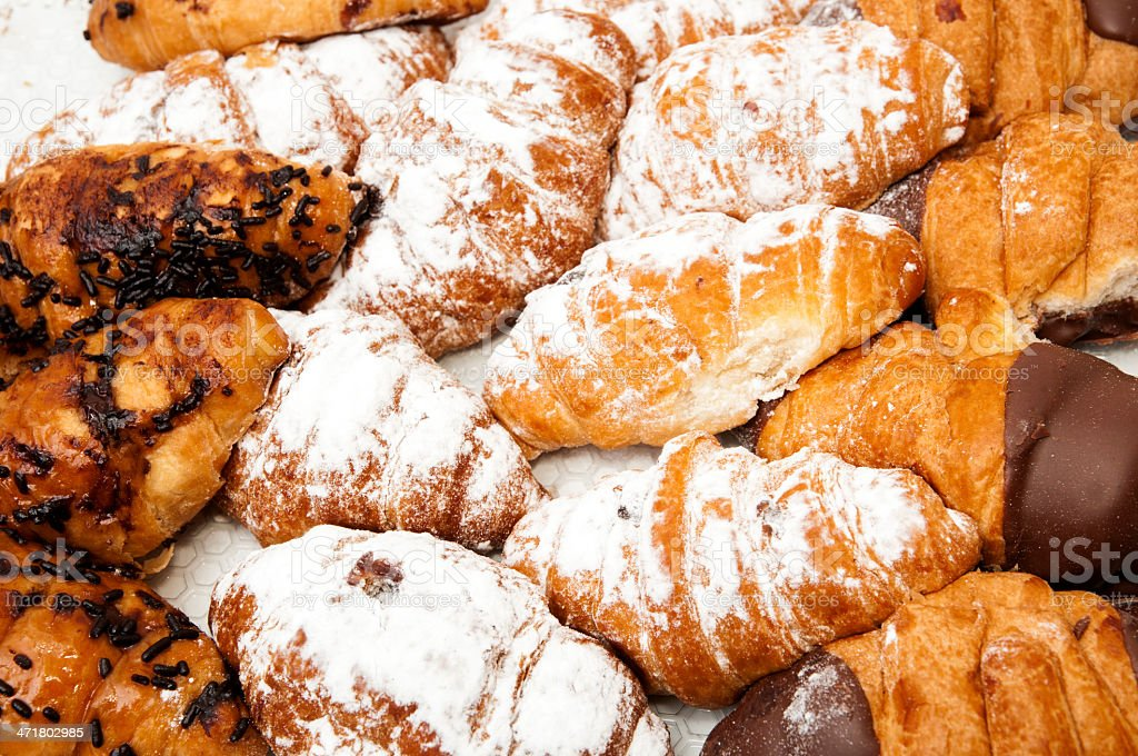 assortment of chocolate croissants royalty-free stock photo