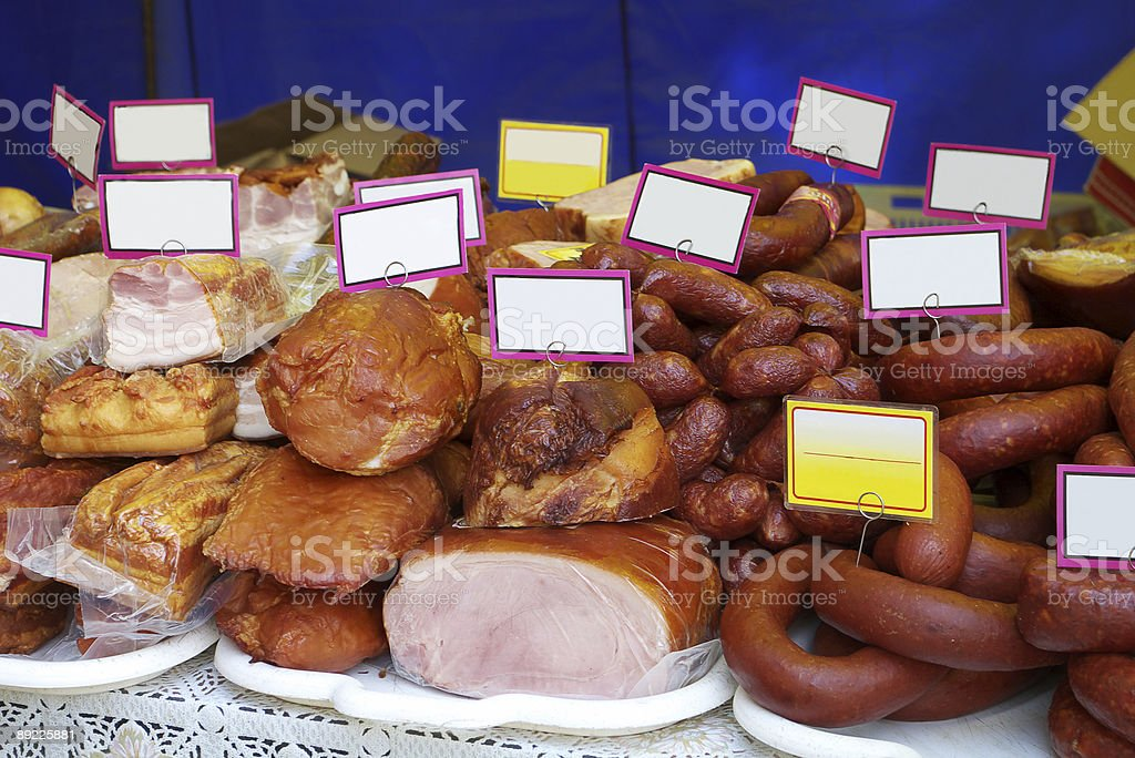 Assortment of Cold Meats royalty-free stock photo