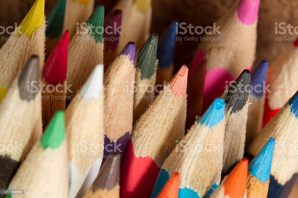 Assortment of colored pencils/Colored Drawing Pencils/Colored dr royalty-free stock photo