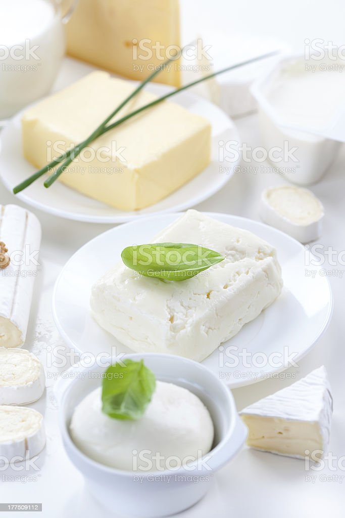 Assortment of dairy products royalty-free stock photo