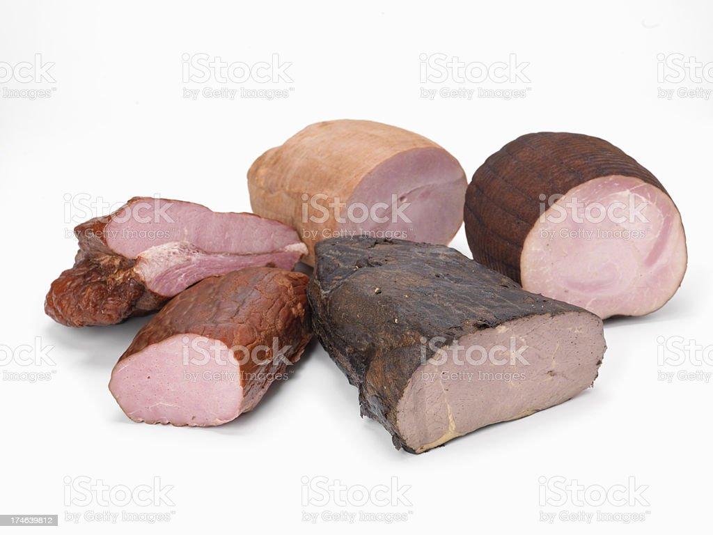 Assortment of Deli Meats royalty-free stock photo