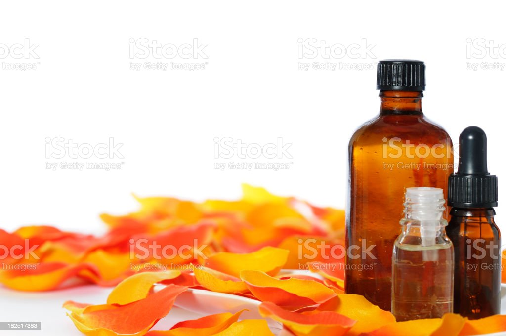 Assortment Of Essential Oils royalty-free stock photo
