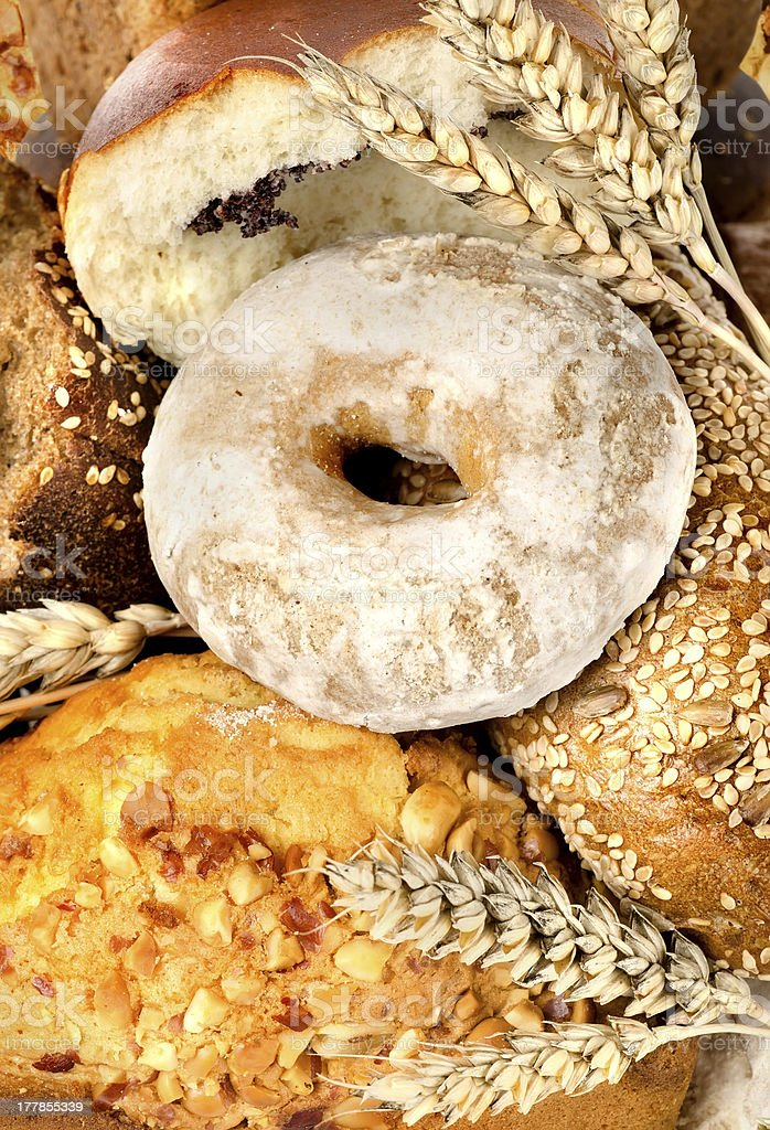 Assortment of fresh breads royalty-free stock photo