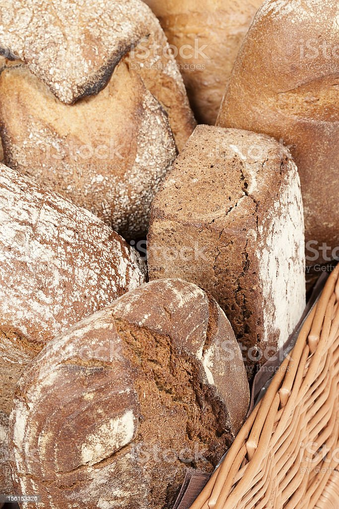 Assortment of fresh crusty bread royalty-free stock photo