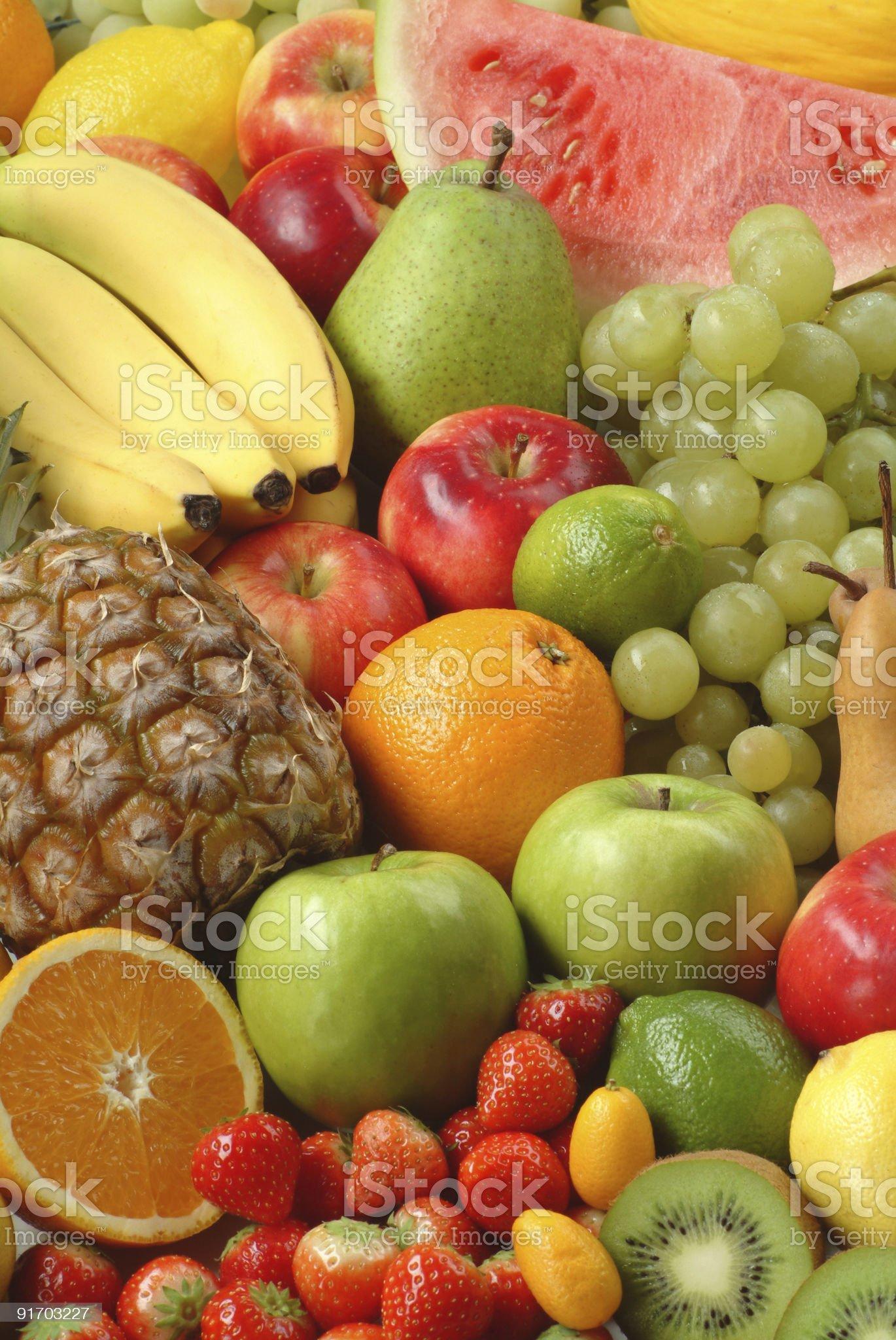 Assortment of fresh fruit royalty-free stock photo