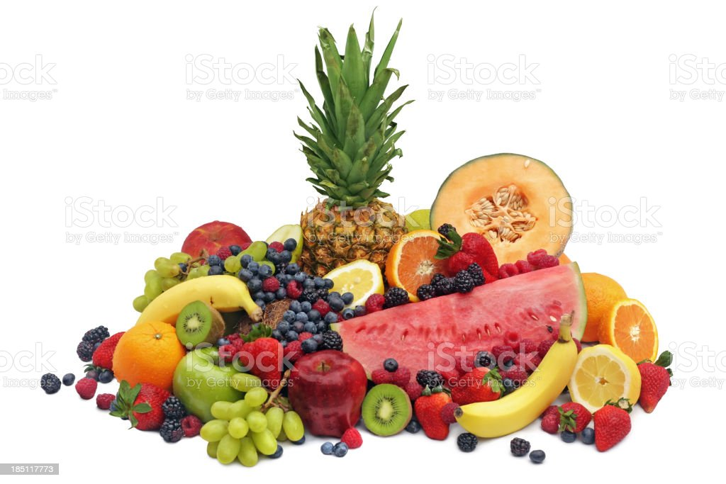 Assortment of Fresh Fruits royalty-free stock photo
