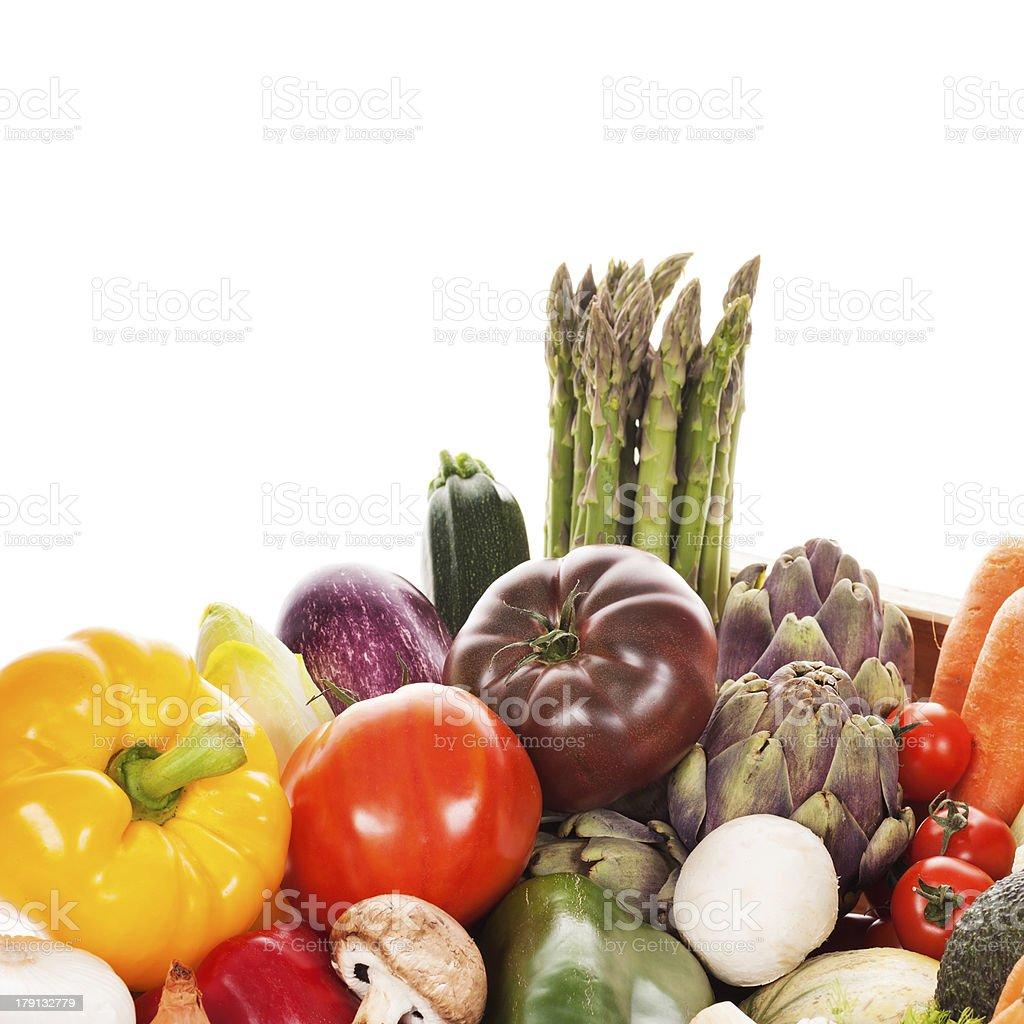 Assortment of fresh vegetables royalty-free stock photo