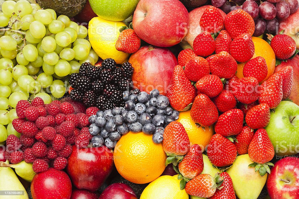 Assortment of fruits stock photo