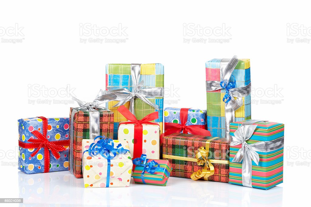Assortment of gift boxes royalty-free stock photo