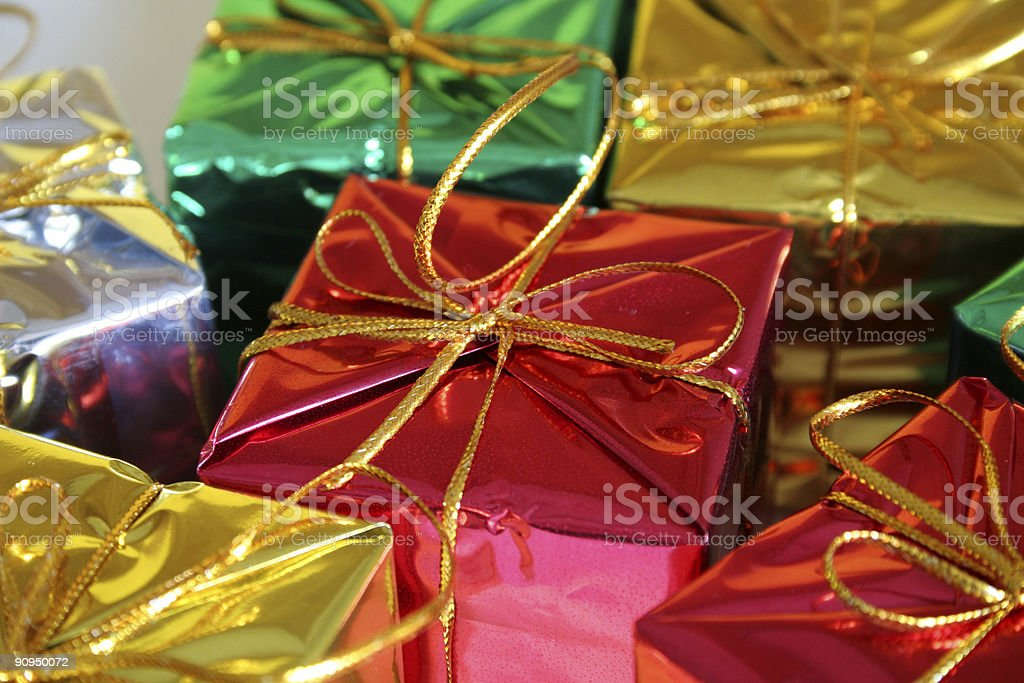 assortment of gifts (space) royalty-free stock photo