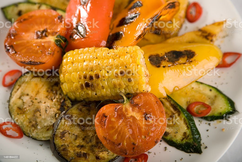 Assortment of grilled vegetables royalty-free stock photo