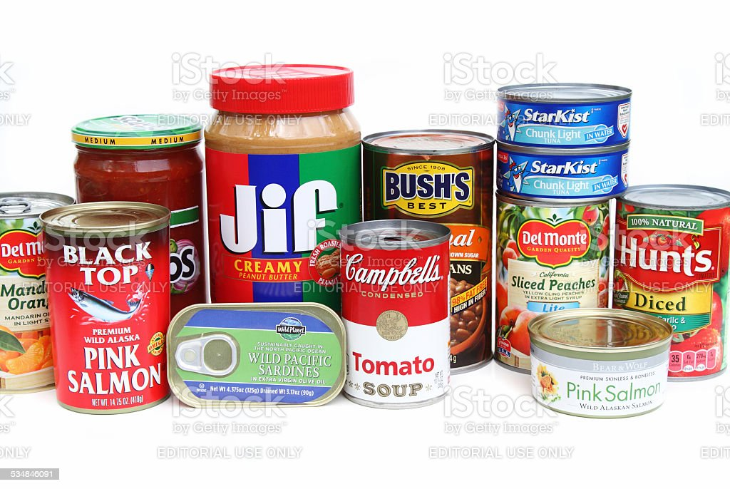 Assortment of groceries stock photo