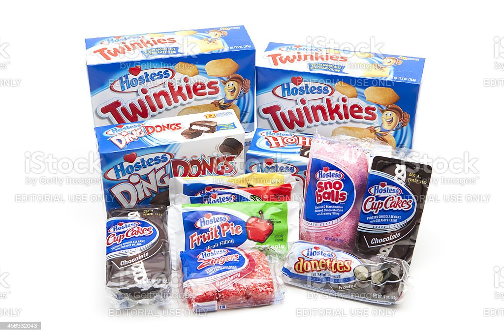 Assortment of Hostess Brands Items stock photo