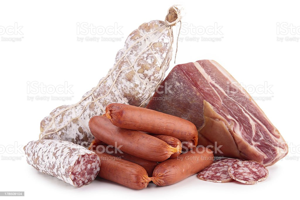 assortment of meat royalty-free stock photo