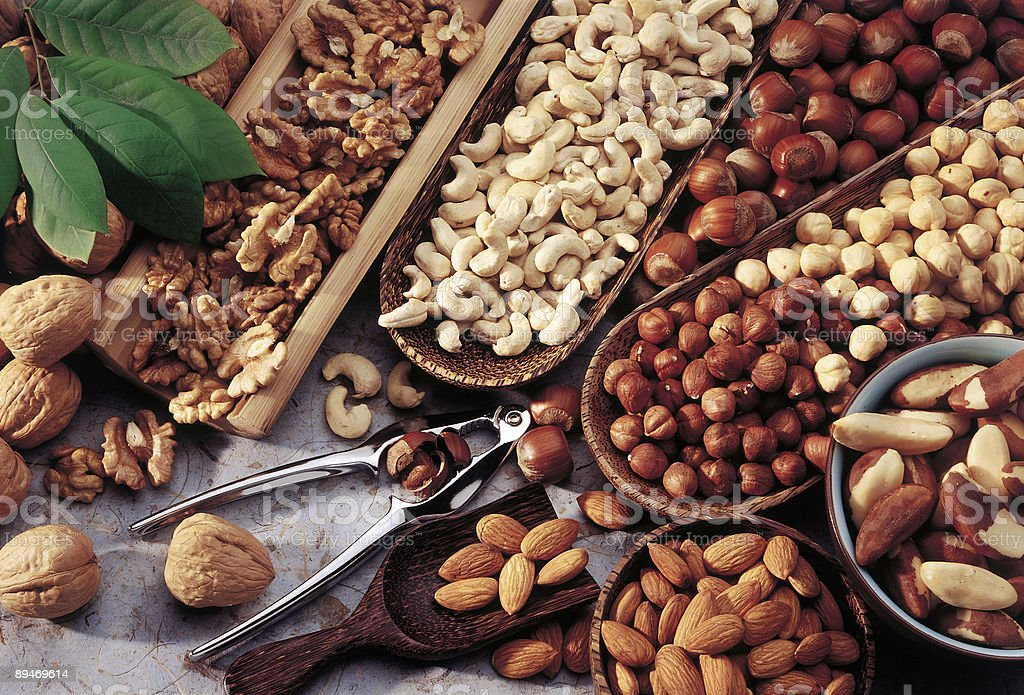 Assortment of nuts royalty-free stock photo