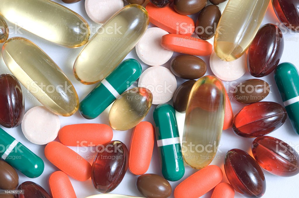 Assortment of Pills royalty-free stock photo