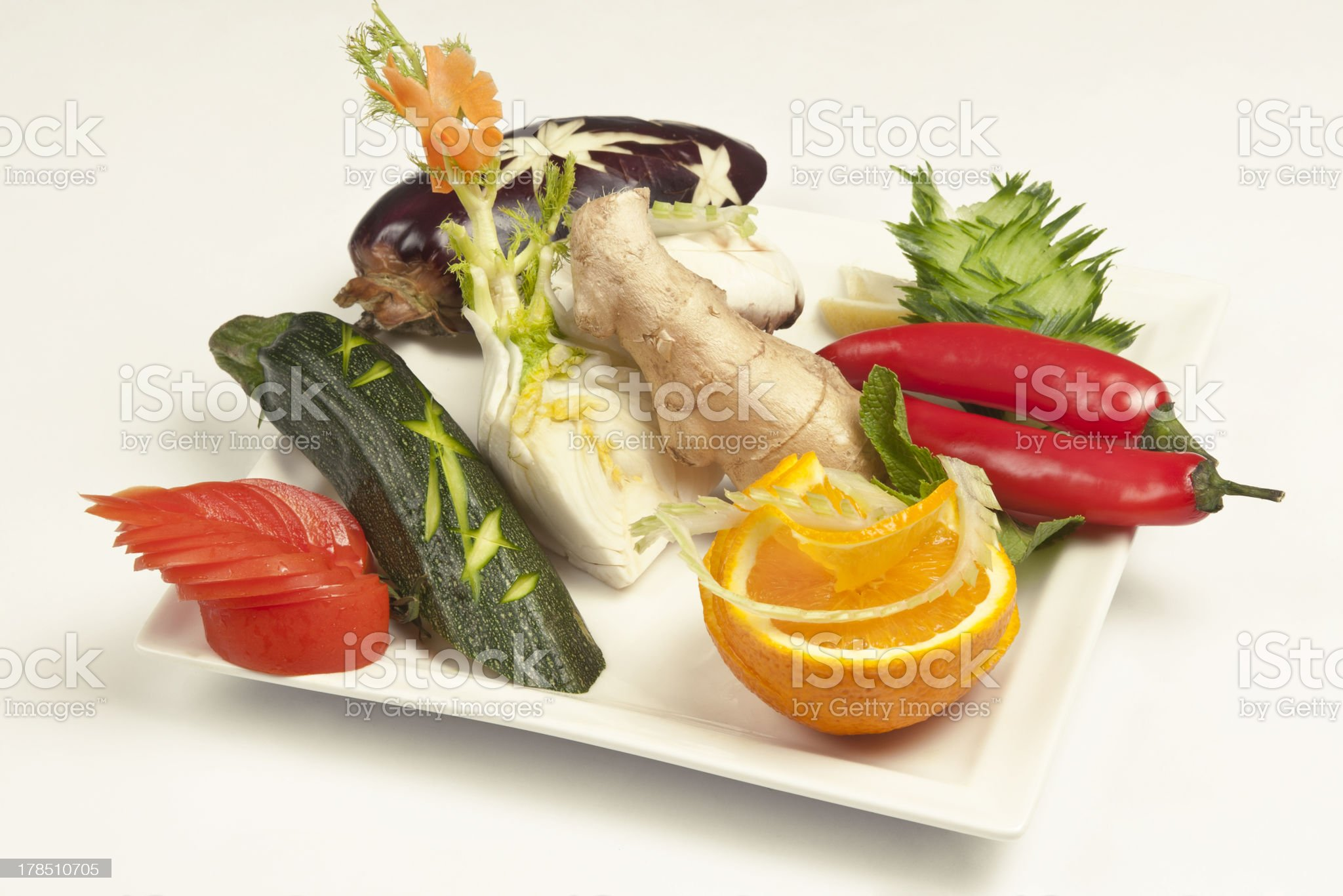 Assortment of raw vegetables royalty-free stock photo