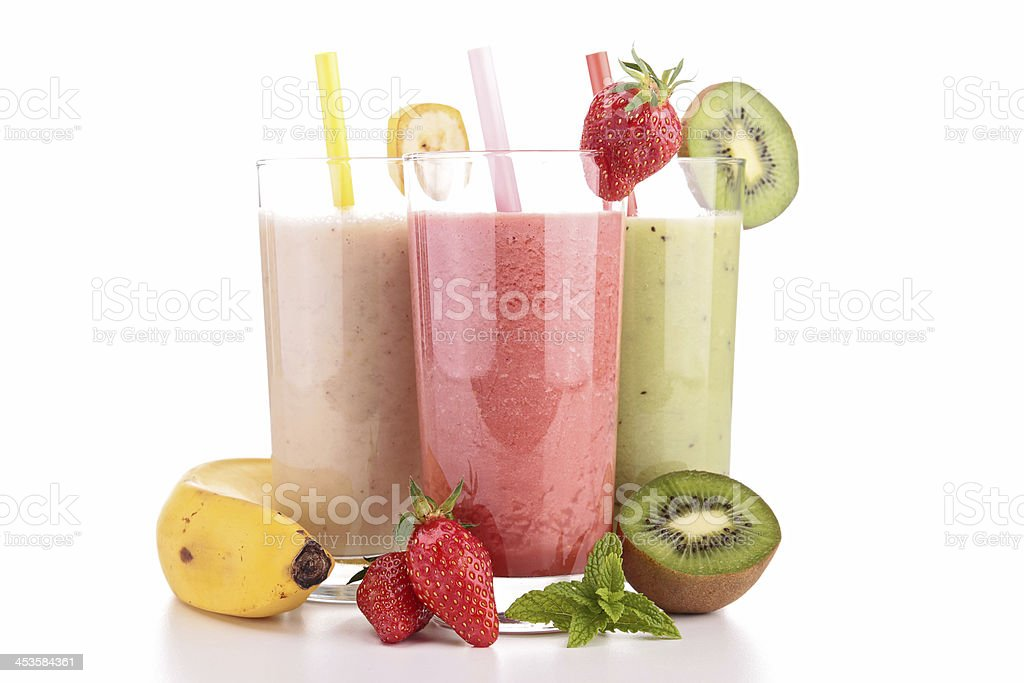 assortment of smoothies royalty-free stock photo