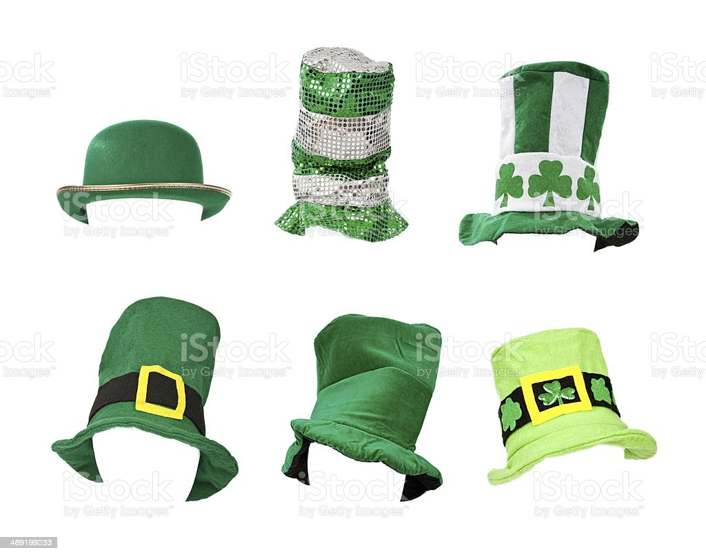 Assortment of St Patricks Day Hats stock photo